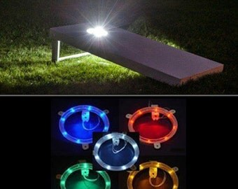 Cornhole LED Hole Lights (High Quality) | Corn Hole | Corn Toss | Bean Bag Toss | Light