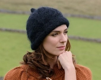 Hand knitted vintage style hat,cap.