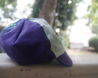 Cycling Cap - Purple turtles