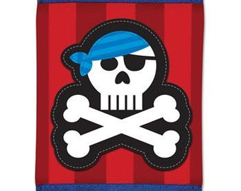 Boy's Pirate Wallet with Velcro Closure