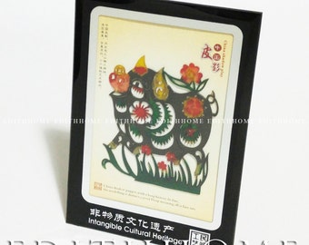 Chinese Folk Art - Chinese Zodiac Sign OX Skin Shadow Puppets (12 Style to Choose), Free Shipping