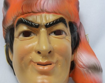 Vintage Walt Disney Davy Crockett Halloween Mask CeSar Costumes