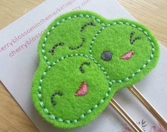Cute Pea Friends Paper Clip