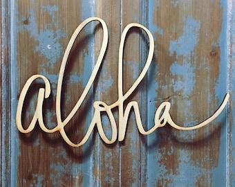 Aloha Wall Hanging-Hawaii Calligraphy