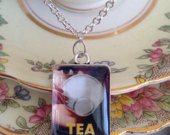 Retro jewellery, Vintage jewellery, Advertising jewellery, Quote jewellery, Tea lovers gift, gift for women, Mothers Day gift , 1950's icon