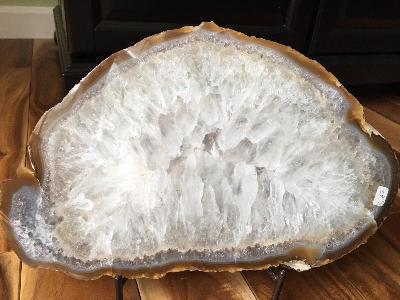 Slabbing Agate: Raw Agate Slice Agate Slab Quartz Crystal By NewMoonBeginnings