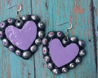 Southern heart with swarovski earrings