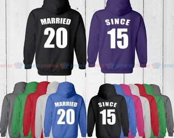 MARRIED SINCE 2015  - Matching Couple Shirts - His and Her T-Shirts - Love Tees