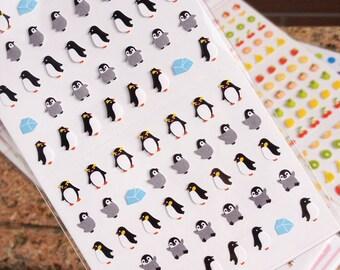 Cute Mini-Penguin stickers/ Super Mignon Penguin coréen autocollant/mini animal stickers/penguin stickers
