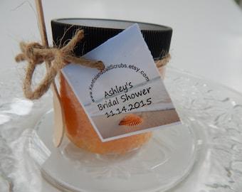Bridal Shower Salt Scrub Favors, 12 Salt Scrub Favors, Destination Wedding Salt Scrub Favors