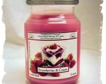 Strawberries & Cream Paraffin Container Candle