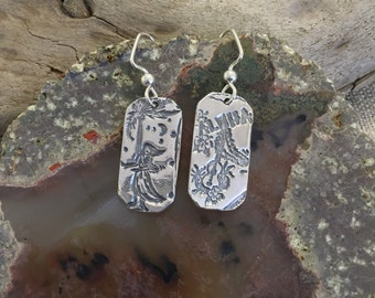 Hawaiian Luau Fine Silver Earrings