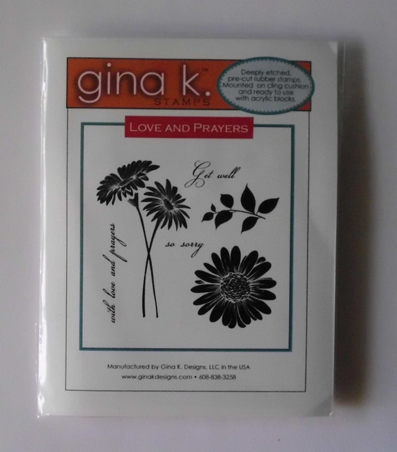 Gina K Designs Love And Prayers Stamp Cling Rubber Stamp
