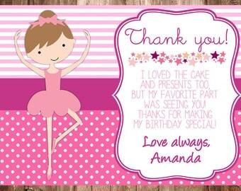 Ballerina Thank You Card