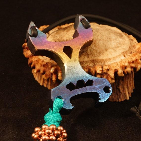 Anodized Titanium 'Horny Monster' Slingshot