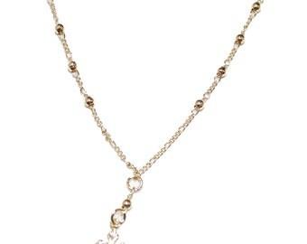 Cross Rosary Bracelet 18K Gold Plated Rosary Bracelet - Decenario Bracelet