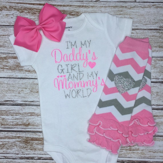 I'm my daddy's girl in my mommy's world onesie set, with ...
