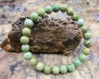 Genuine Turquoise Stretch Bracelet