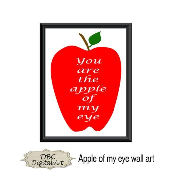 Items similar to apple wall art apple wall d cor apple for Decor my eyes