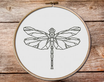 Dragonfly - dragonfly  Cross Stitch Pattern - Modern Cross Stitch Pattern PDF - Instant download