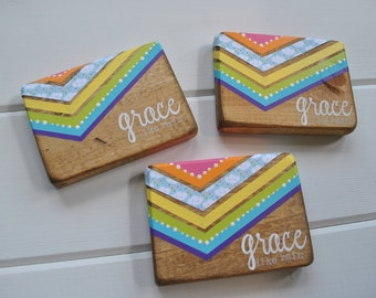 LIMITED edition Grace like rain rainbow block