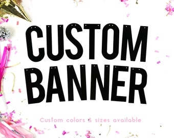 CUSTOM BANNER /// Personalised Banner