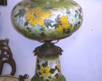 Mid Century Hand Painted Table Lamp