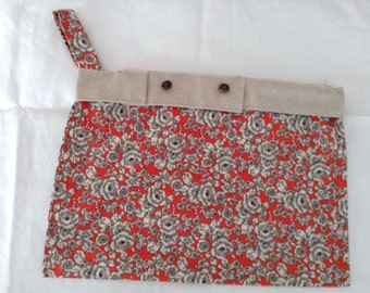 Hand made clutch, red