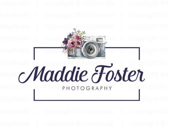 Photography logo small business logo premade logo camera logo graphic design photographers logo