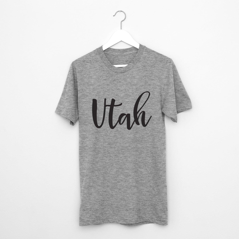 Utah T Shirt Unisex Salt Lake City Utah State Of Utah