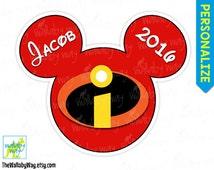 The Incredibles Printable Disney Iron On Transfer or Use as Clip Art  DIY Disney Shirt - Incredibles Logo, Mickey Head, Matching shirts