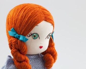 Victoria - Handmade Cloth Doll