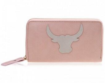 Boho Ibiza wallet pink