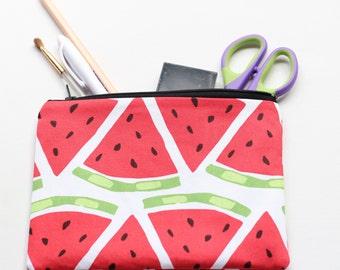Watermelon zippered pouch / clutch / pencil case