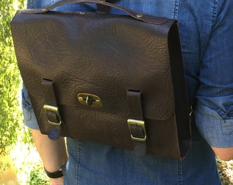 Folder backpack natural leather Made in Italy