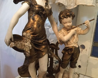 Antique Statue Signed L & F Moreau