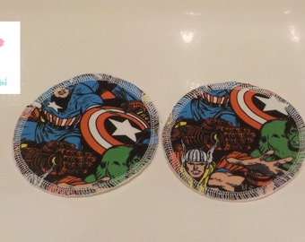 """REDUCED Avengers Jersey 4.5"""" Breast pads nursing pads Reusable washable ultra thin"""