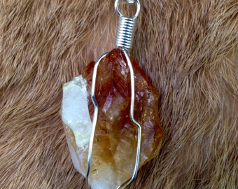 Citrine Wire-Wrapped Necklace