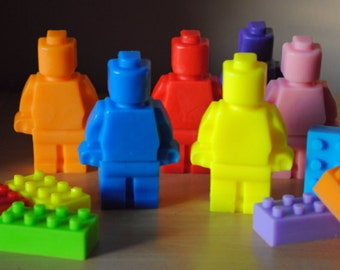 2 x Giant type Soap & 6 x colourful type bricks soap - Party favor, kid soap, nerdy soap, geek soap