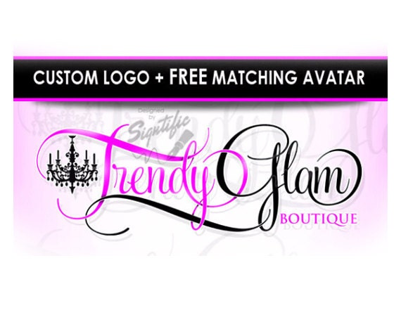 Custom boutique logo with free avatar website logo design for Custom design online