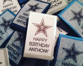Dallas Cowboys Birthday Party Favor - 1 MINT per package - Custom Birthday Personalized Mints for any age