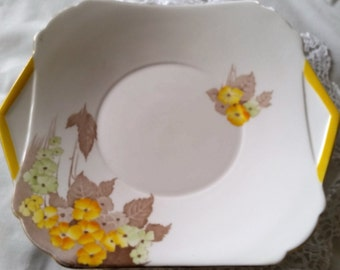 Shelly Fine Bone China Cake Plate made in England 1930s