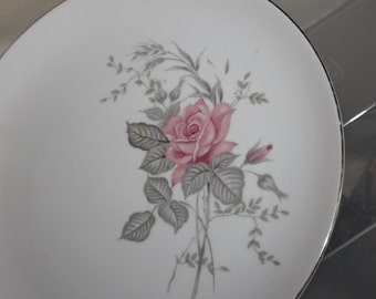 Lovely Fine China in a Crown, Made in Japan, Svelyn, pattern 3832, Great Vintage Condition, Pink Rose, 10+ Inches in Diameter, Beautiful