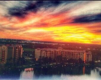 Sunset Photography***Fire in the Sky***DisneyWorld Property***Sky Print