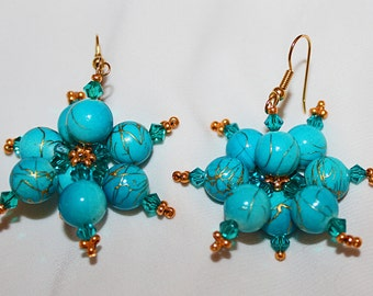 Aquamarine Beaded Earrings