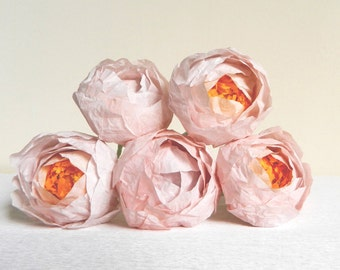 1 piece of pink peony, Paper flower peonies, paper peonies, pink peony, handmade flowers