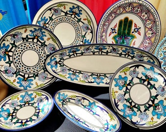 Hand Painted ,Oven,Microwave And Dishwasher Safe,Lead Free Jasmin Dinner Set