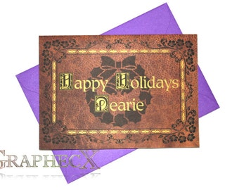 Fan-made Once Upon A Time inspired Christmas Holidays card