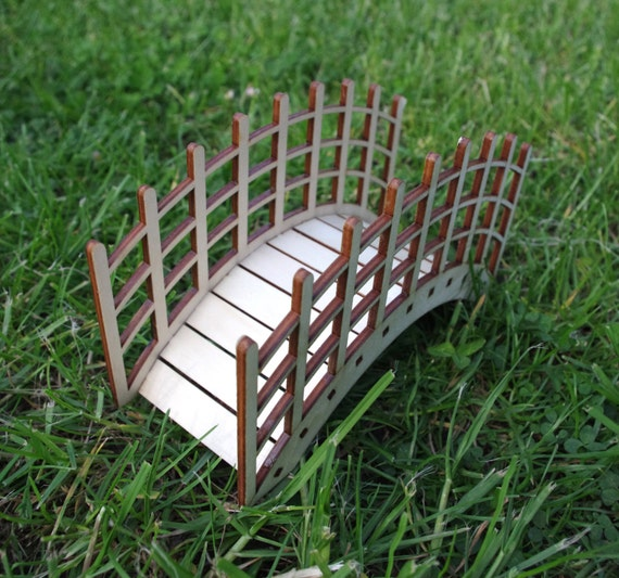 Miniature Wooden Bridge Kit For Fairy Garden