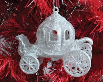 """Cinderellas Pumpkin Carriage Victorian Fairy Tale Valentines Day or Christmas Tree Ornament -4"""""""